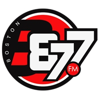 Logo of radio station B87FM