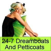 Logo of radio station 24-7 Dreamboats And Petticoats