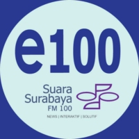Logo of radio station Suara Surabaya FM 100