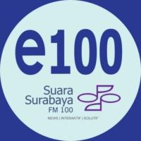 Logo of radio station Suara Surabaya FM 100