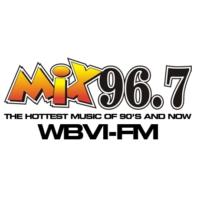 Logo of radio station MIX 96.7 WBVI-FM