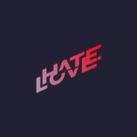 Logo of radio station Hatelove FM