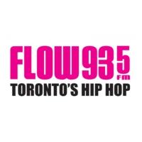 Logo de la radio CFXJ-FM FLOW 93-5