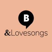 Logo of radio station & Lovesongs. By barba radio
