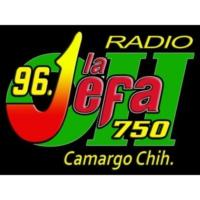Logo of radio station XHEOH La Jefa 96.1 FM