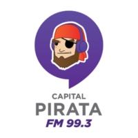 Logo of radio station XHCQR Pirata FM 99.3