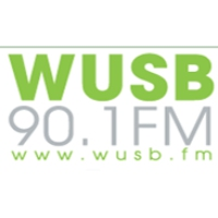 Logo of radio station WUSB Stony Brook 90.1
