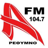 Logo de la radio Alpha FM 104.7