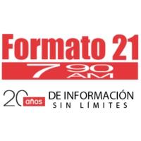 Logo of radio station XERC Formato 21 790 AM