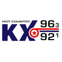 Logo of radio station KXCM KX