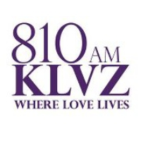 Logo of radio station KLVZ