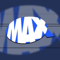 Logo of radio station MAX Belgium