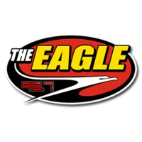 Logo of radio station 95.7 The Eagle