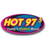 Logo of radio station KVEG HOT 97.5
