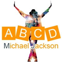 Logo of radio station ABCD Michael Jackson