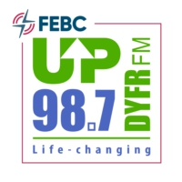Logo of radio station DYFR FM UP 98.7