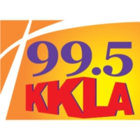 Logo of radio station KKLA 99.5 FM