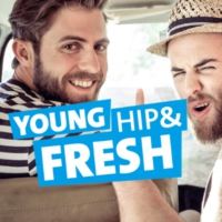 Logo de la radio RPR1. Young, hip and fresh