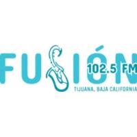 Logo of radio station XHUAN Fusión 102.5 FM