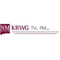 Logo of radio station KRWG New Mexico State Univ. NPR 90.7 FM