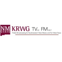 Logo of radio station KRWG New Mexico State Univ. NPR 90.7 FM