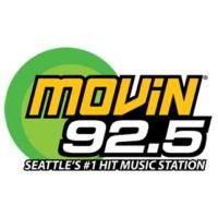 Logo of radio station KQMV MOViN 92.5