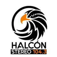 Logo of radio station XHJIM Halcón Stereo 104.3
