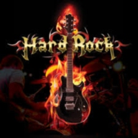 Logo of radio station 100% HARD ROCK