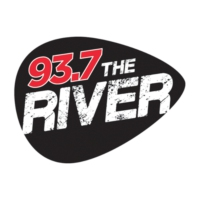 Logo of radio station KYRV 93.7 The River