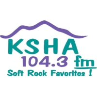 Logo of radio station KSHA 104.3
