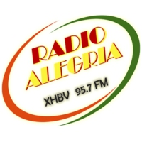 Logo of radio station XHBV Radio Alegria 95.7 FM