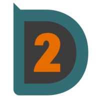 Logo of radio station D-TWO