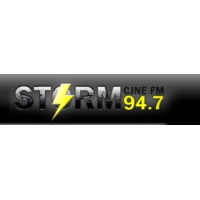 Logo of radio station CJNE FM (The Storm)