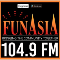 Logo of radio station KZMP-FM 104.9 FunAsiA