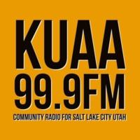 Logo of radio station KUAA 99.9fm