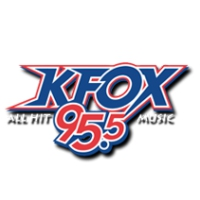 Logo of radio station KAFX KFOX 95.5 FM