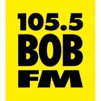 Logo of radio station KEUG 105.5 Bob-FM