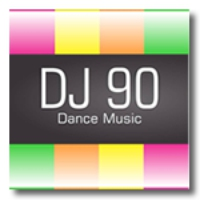 Logo of radio station dj90