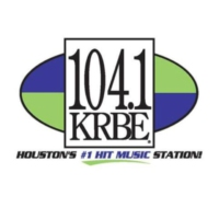 Logo of radio station KRBE 104.1 FM