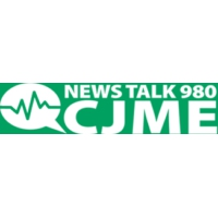 Logo of radio station CJME News Talk