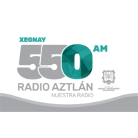 Logo of radio station XEGNAY Radio Aztlán