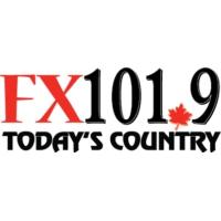 Logo of radio station CHFX-FM FX101.9