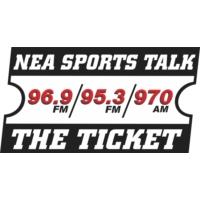 Logo of radio station KNEA-AM 95.3 The Ticket