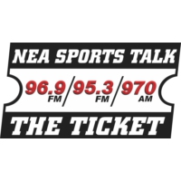 Logo of radio station KNEA-AM 95.3 The Ticket