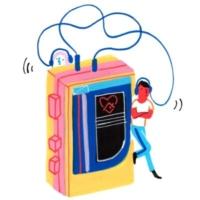 Logo of radio station Sony Music Radio