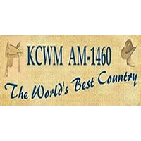 Logo of radio station KCWM