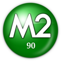 Logo of radio station M2 90