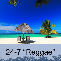 Logo of radio station 24-7 Reggae