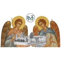 Logo de la radio Μοναχική Διακονία 87,5