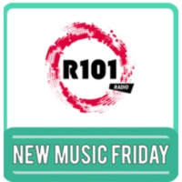 Logo of radio station R101 New Music Friday